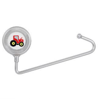 Tractor rojo del juguete colgador de bolso