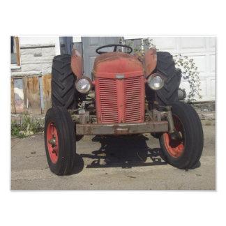 Tractor rojo fotografía
