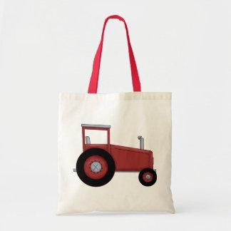 Tractor rojo grande bolsas