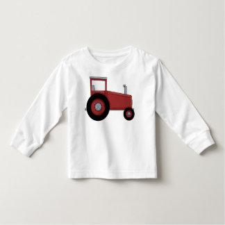 Tractor rojo grande playera de bebé
