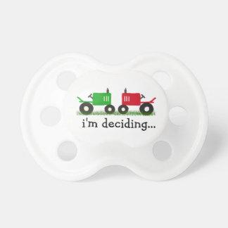 ¿Tractor rojo o verde? ¡Todavía estoy decidiendo! Chupetes Para Bebes