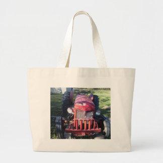 Tractor rojo retro bolsa de mano