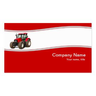 Tractor rojo - tarjeta de visita de la fuente de l