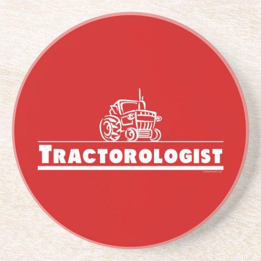 Tractor rojo, Tractorologist Posavasos Para Bebidas