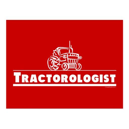 Tractor rojo, Tractorologist Postal