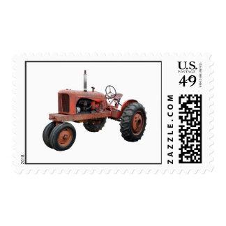 Tractor rojo viejo rústico envio