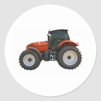 tractor round stickers
