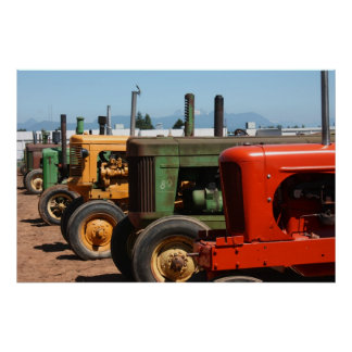 Tractor Row Poster