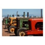 Tractor Row Print