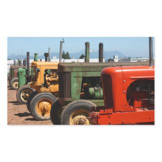 Tractor Row Rectangular Sticker