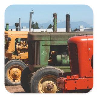 Tractor Row Square Sticker