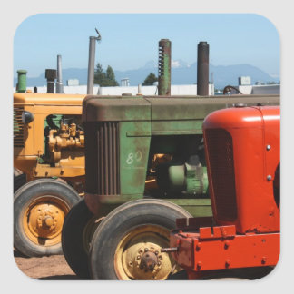 Tractor Row Square Stickers