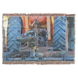 TRACTOR RURAL QUEENSLAND AUSTRALIA THROW BLANKET
