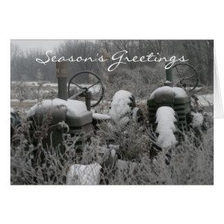 Tractor Season's Greetings Christmas Card