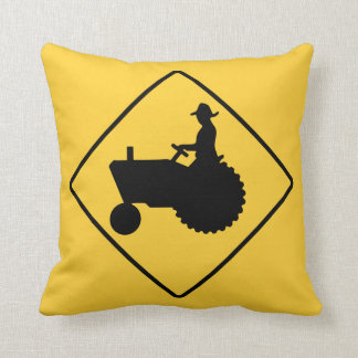 Tractor Sign Throw Pillow
