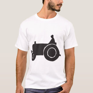 Tractor Silhouette Mens T-Shirt