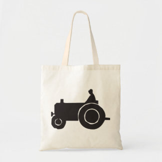Tractor Silhouette Tote Bag