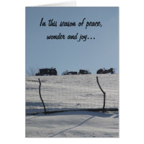 Tractor Snow Scene Christmas Card