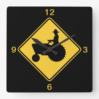 Tractor Square Wall Clock