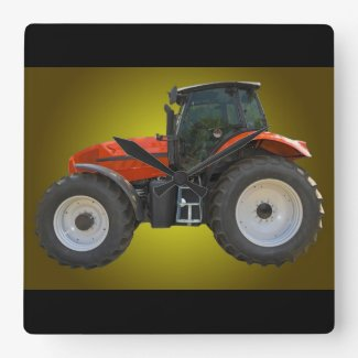 tractor square wall clocks