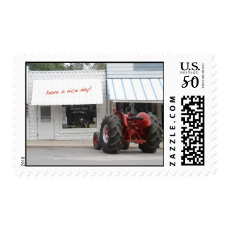 Tractor Stamp: Have a nice day! Postage