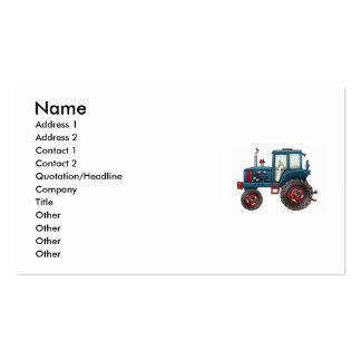 tractor-stamp, Name, Address 1, Address 2, Cont... Business Card