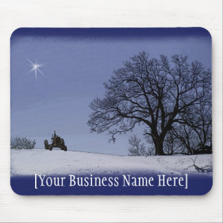 Tractor & Star Mousepad: Add Your Business Name Mouse Pad