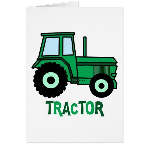 Tractor Tarjeta De Felicitación