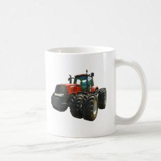 tractor taza básica blanca