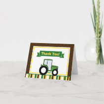 Tractor Thank You Card Folded Note Card