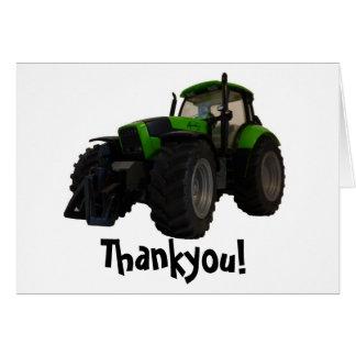 Tractor thankyou card