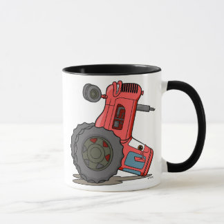 Tractor Tipped Over Mug
