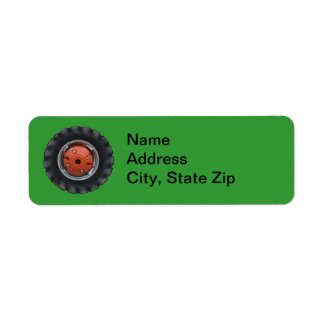 Tractor Tire Address Labels