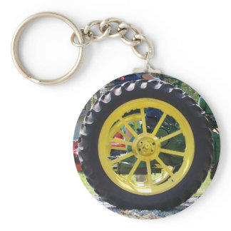 Tractor tire keychain