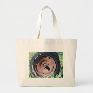 Tractor Tire Large Tote Bag