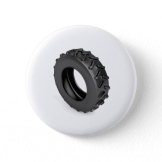 Tractor tire on white button
