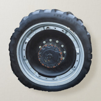 Tractor Tire Round Pillow