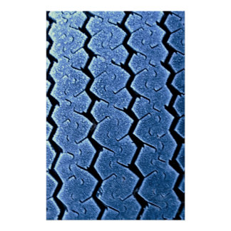 Tractor tire with frost poster