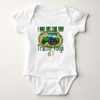Tractor Tough  1st Birthday Baby Bodysuit