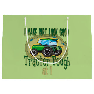 Tractor Tough 1st Birthday Large Gift Bag
