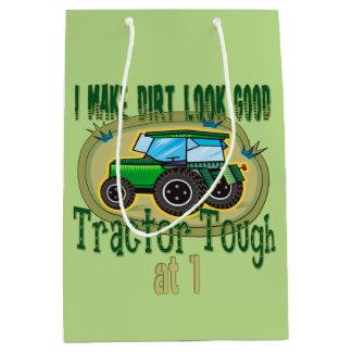 Tractor Tough 1st Birthday Medium Gift Bag