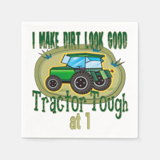 Tractor Tough 1st Birthday Napkin