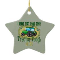 Tractor Tough 60th Birthday Ceramic Ornament