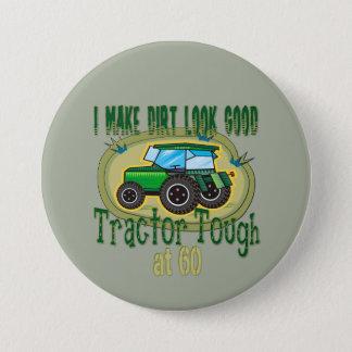 Tractor Tough 60th Birthday Pinback Button