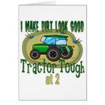 Tractor Tough at 2 Greeting Card