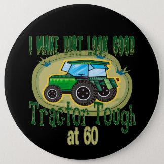 Tractor Tough at 60 Button