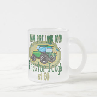 Tractor Tough at 60 Frosted Glass Coffee Mug