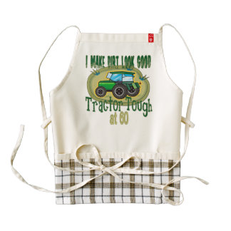 Tractor Tough at 60 Zazzle HEART Apron