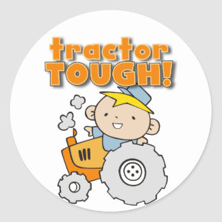 Tractor Tough T-shirts and Gifts Classic Round Sticker