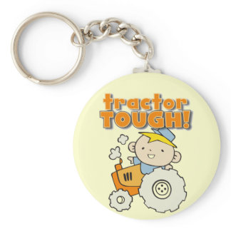 Tractor Tough T-shirts and Gifts Keychain